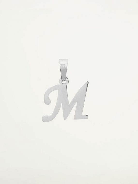 Bedel-Initiaal-Zilver–Hanger-Ketting
