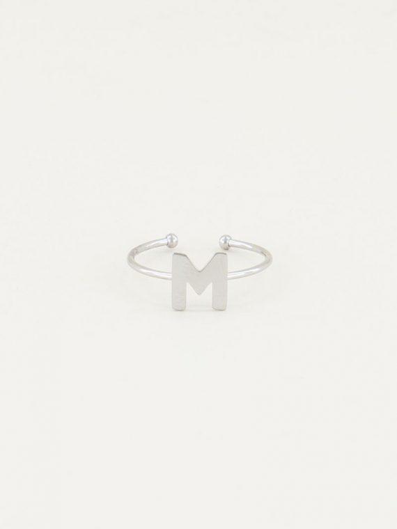 ring_open_initial_uitgesneden_vooraanzicht_zilver_